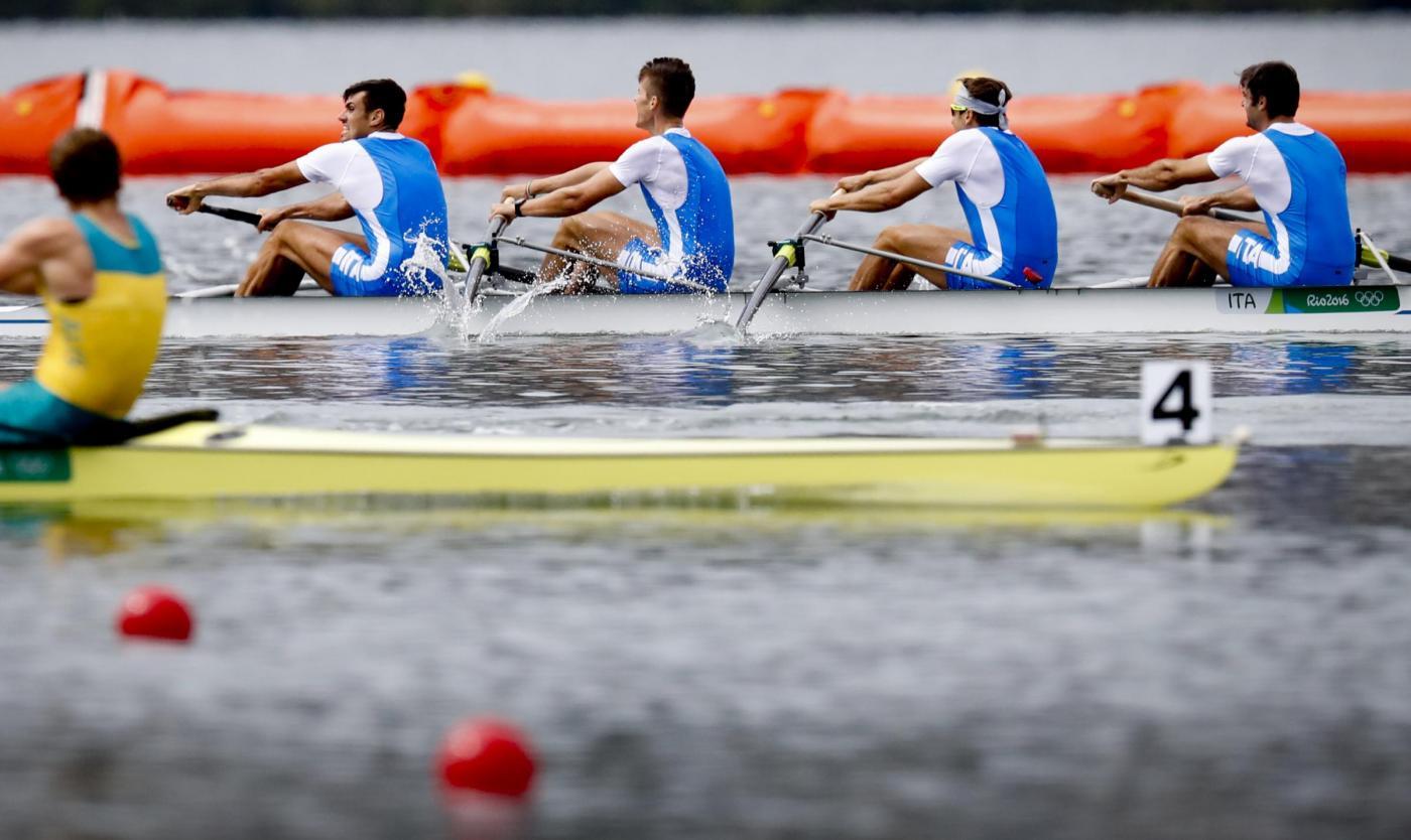 Olimpiadi 2016: Italia bronzo nel canottaggio 4 senza