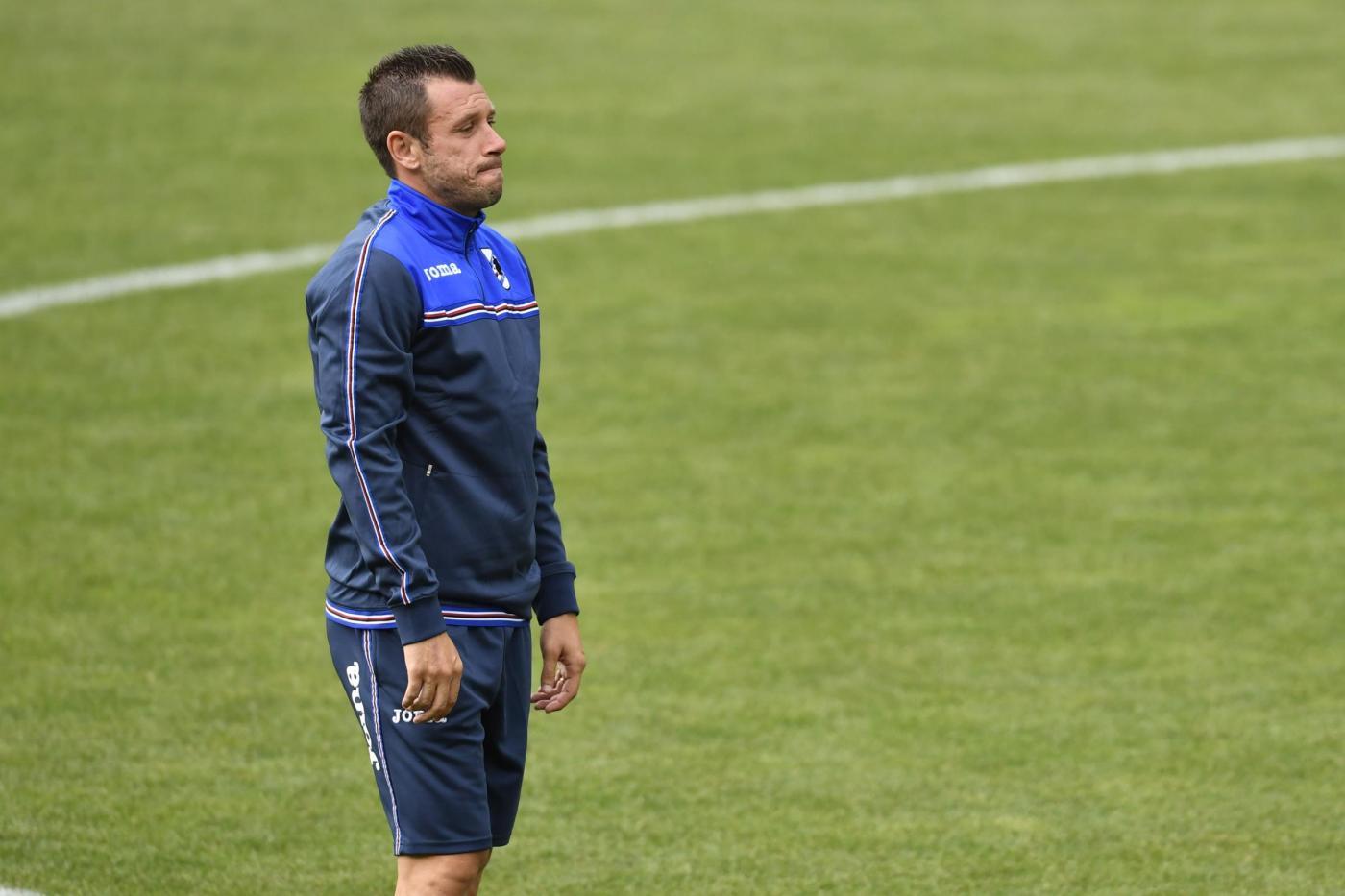Ritiro Estivo U.C. Sampdoria Allenamento del Pomeriggio