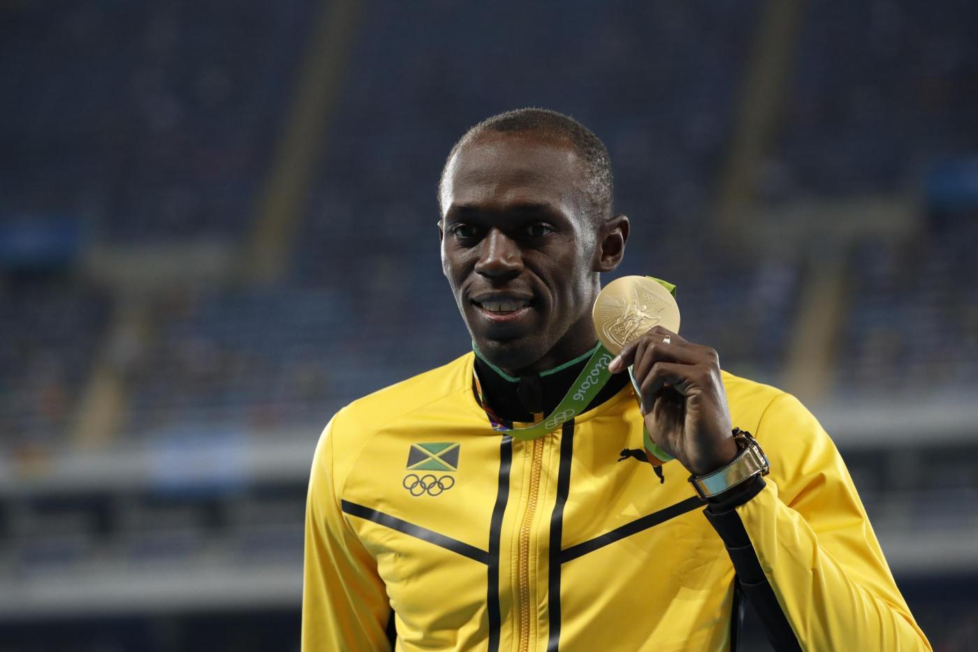 Rio 2016 Cerimonia di premiazione dei 100 metri maschili