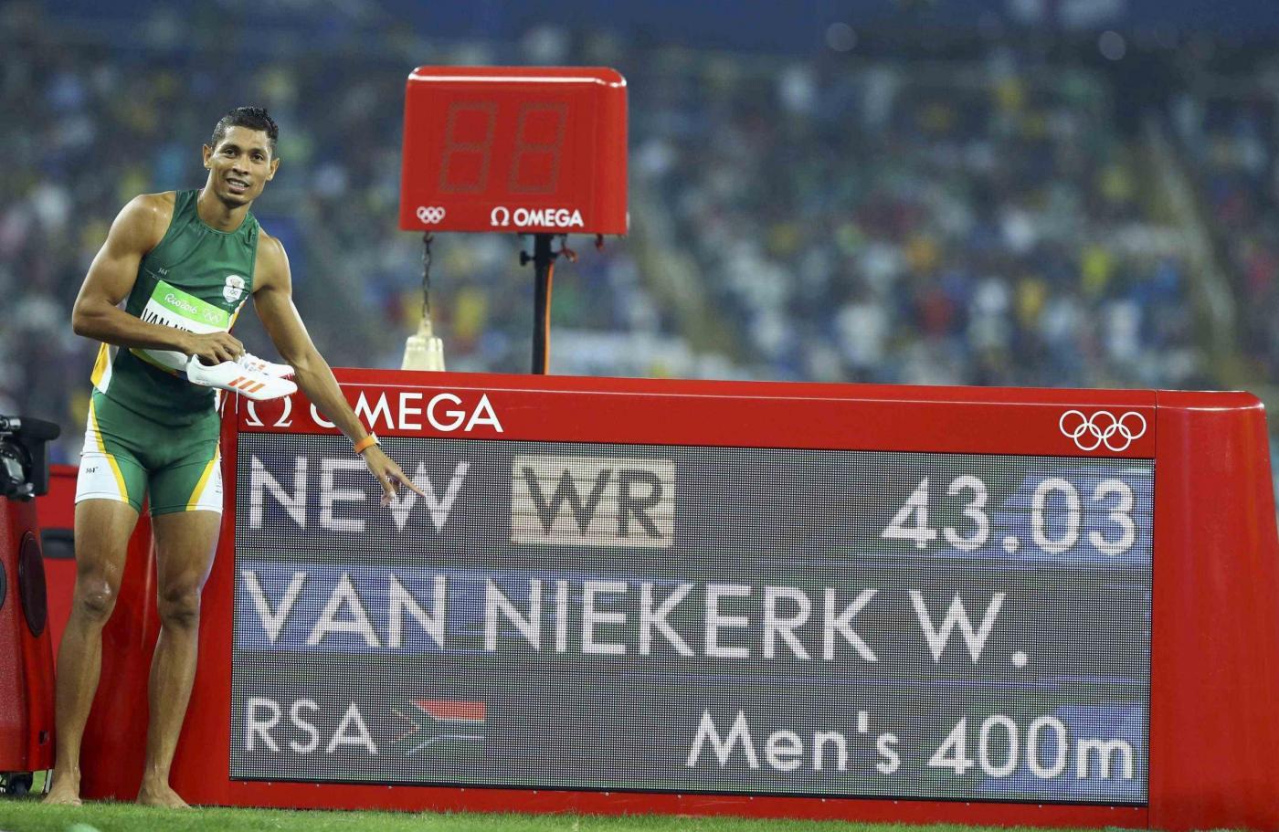 Atletica, Wayde van Niekerk oro e recordo del mondo nei 400m