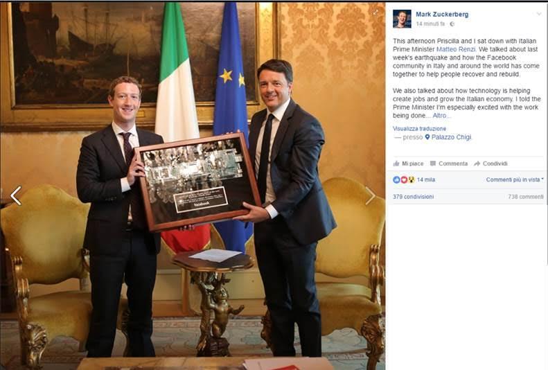 Zuckerberg Renzi