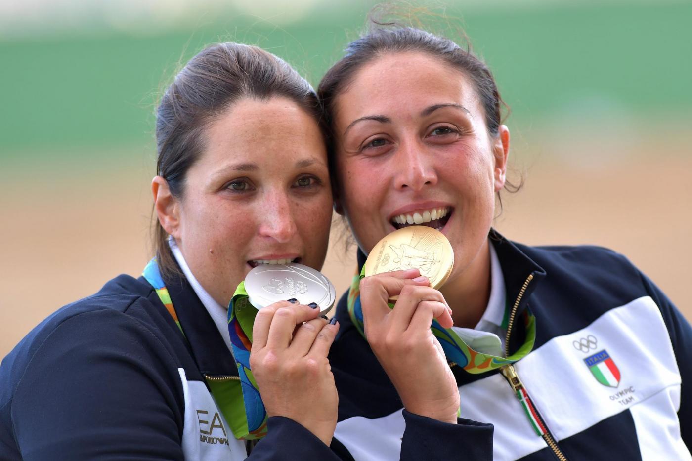 Olimpiadi 2016: Diana Bacosi oro e Chiara Cainero argento nello skeet