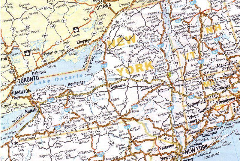 cartina stradale newyork