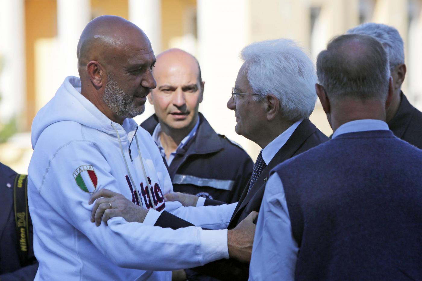 Terremoto in centro Italia: il Presidente Mattarella in visita ad Amatrice