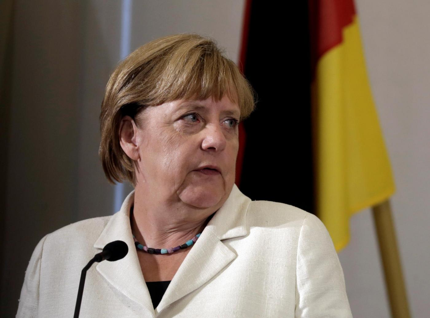Tallinn, Angela Merkel incontra il primo ministro estone