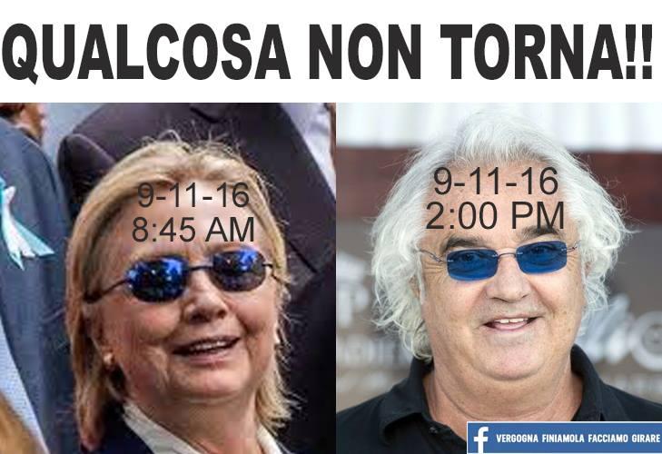 Clinton e Briatore