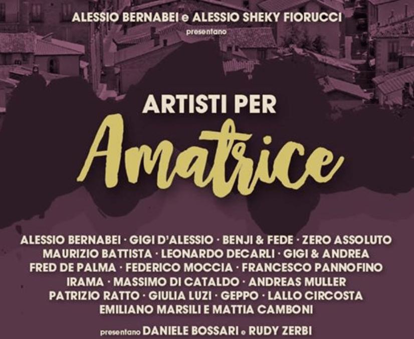 Locandina Concerto Amanti per Amatrice 2016, terremoto