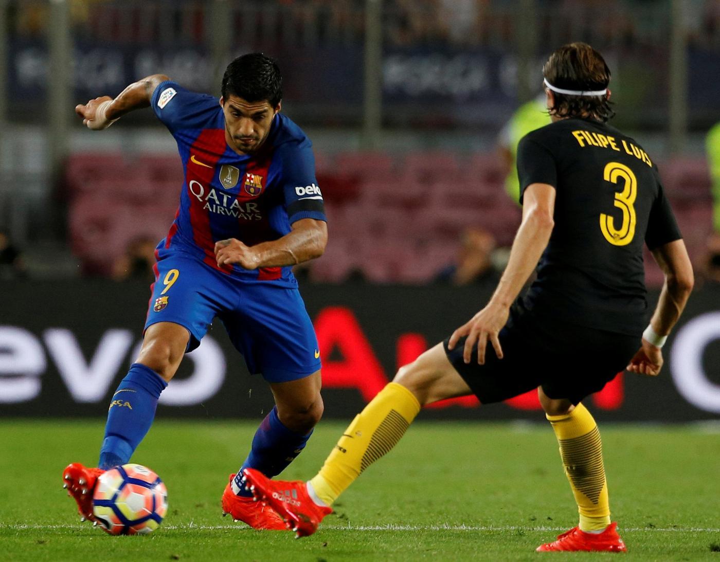 Luis Suarez fallo Felipe Luis Barcellona vs Atletico Madrid