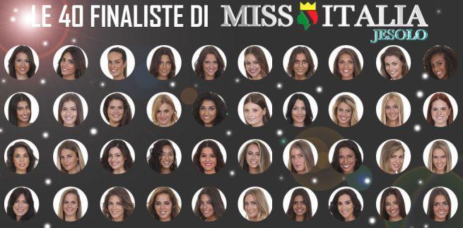 Miss Italia 2016, le 40 ragazze in gara