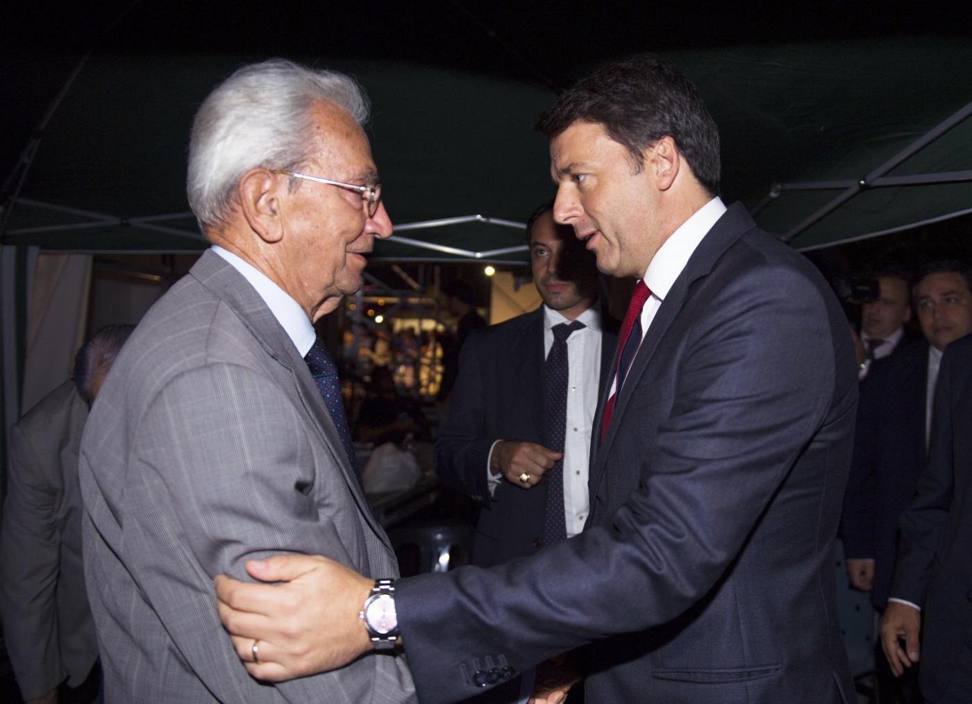Matteo Renzi alla festa dell'Unità di Bolgna