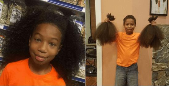 Bambino di 10 anni si fa crescere i capelli per donarli ai coetanei malati di cancro