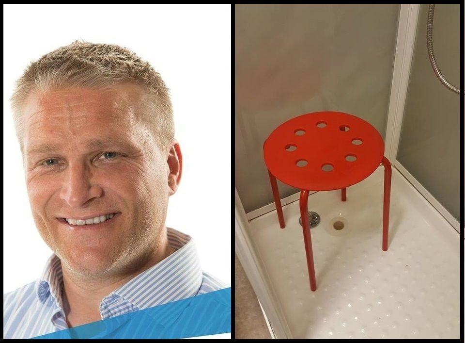 Compra una sedia da Ikea e resta incastrato con il testicolo