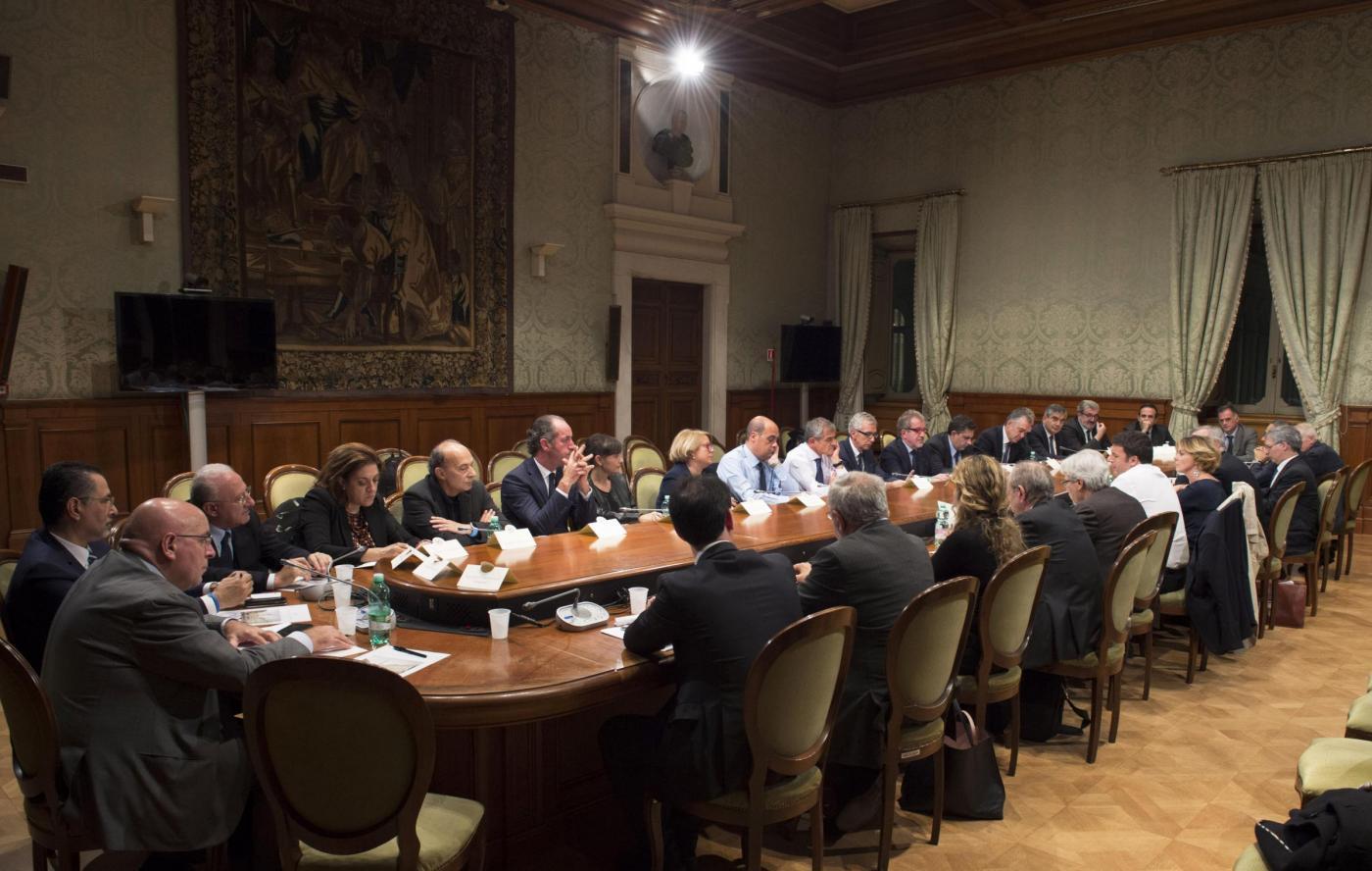 Incontro Governo Regioni a Palazzo Chigi