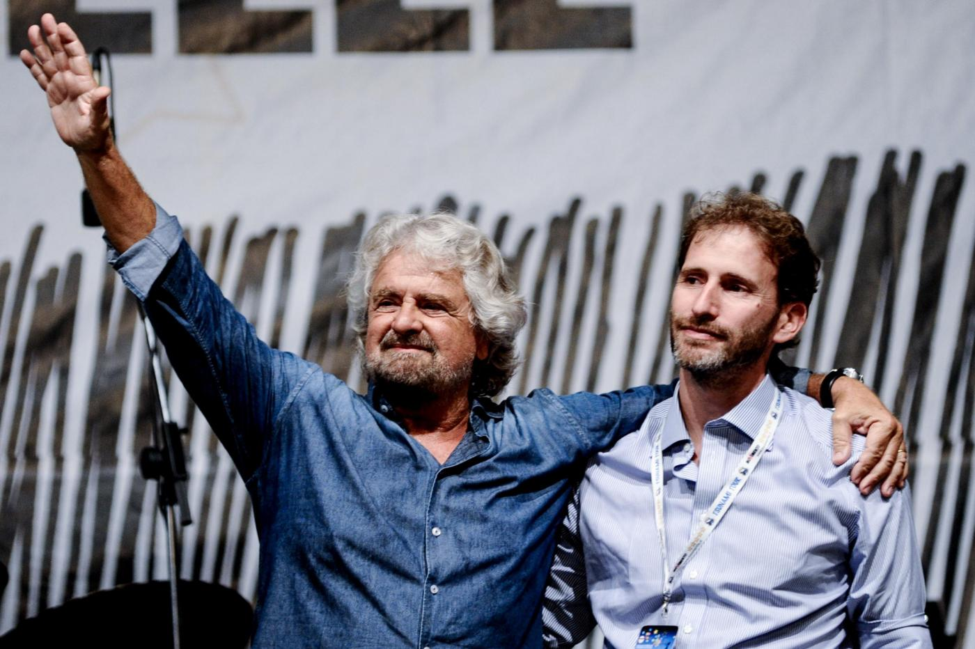 Grillo chiude la prima giornata della festa nazionale del Movimeto 5 Stelle a Palermo