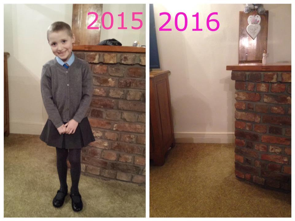 Condivide foto del primo giorno di scuola della figlia morta di cancro a 8 anni