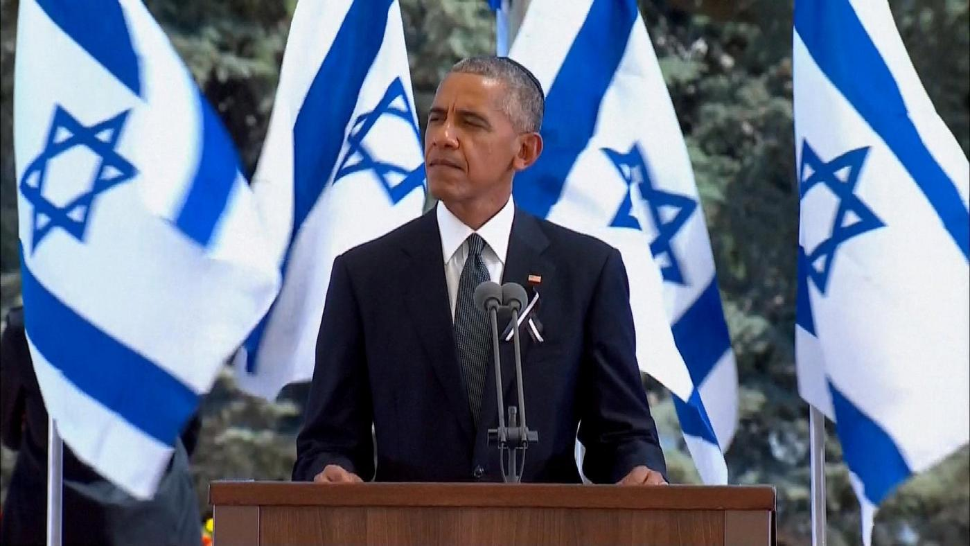 Il discorso del presidente Obama ai funerali di Shimon Peres