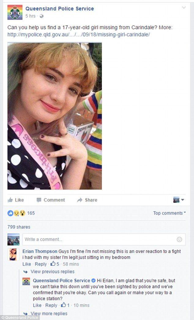 post ragazza scomparsa australia