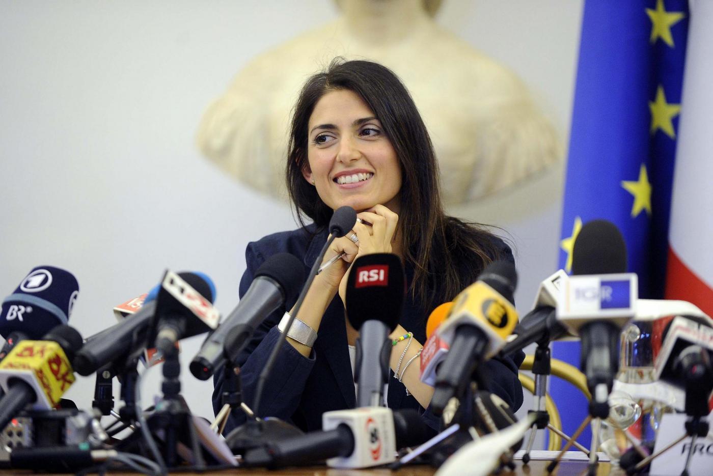 Conferenza stampa di Virginia Raggi sulla candidatura di Roma alle Olimpiadi del 2024