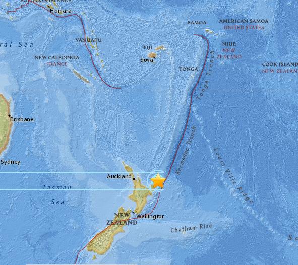Terremoto Nuova Zelanda, scossa del 7 grado a Gisborne allarme Tsunami rientrato