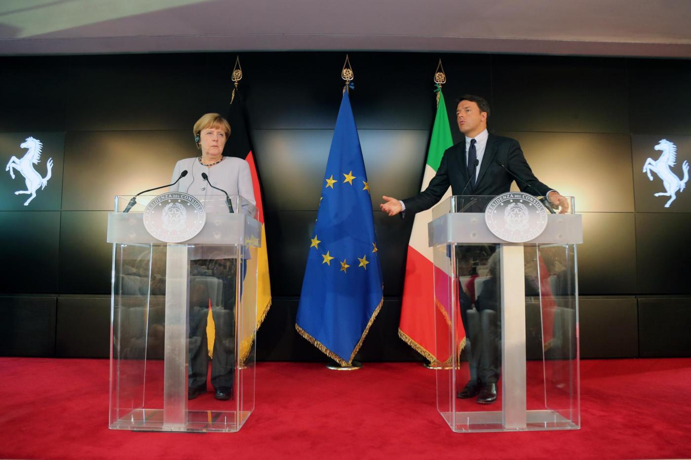 ITALY GERMANY LEADERS MEETING