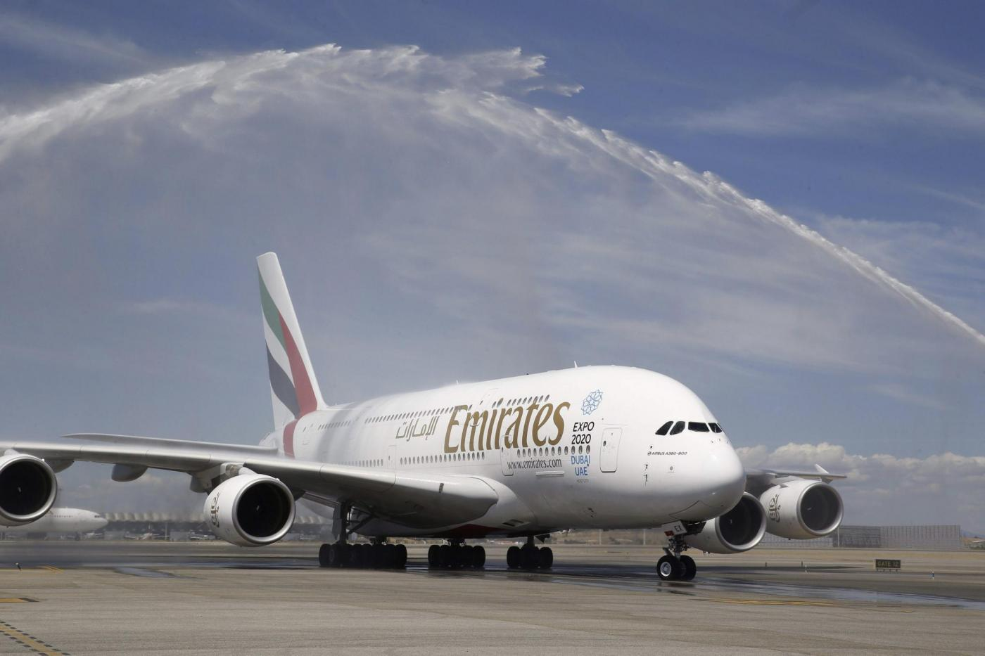 The A380 starts operating in Madrid