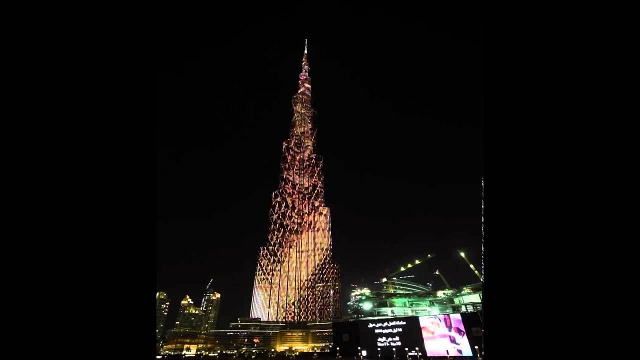Il Burj Khalifa diventa il display LED più grande al mondo