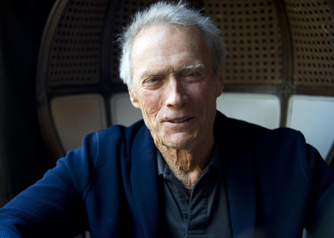 Clint Eastwood ritratti in conferenza stampa