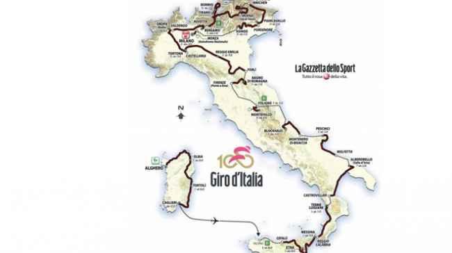 Giro d'Italia 2017: tutte le tappe e il percorso della corsa rosa