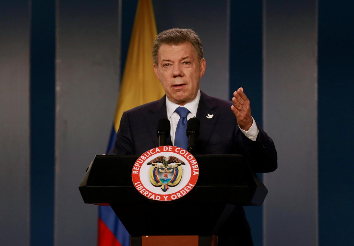 Colombia, il presidente Santos in conferenza stampa