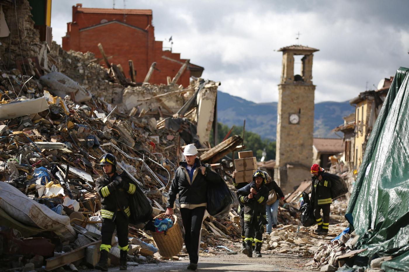 Amatrice dopo il terremoto del 24 agosto