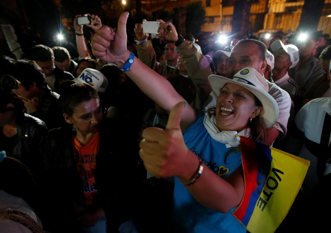Colombia, al referendum sull'accordo governo-Farc vince il 'no'