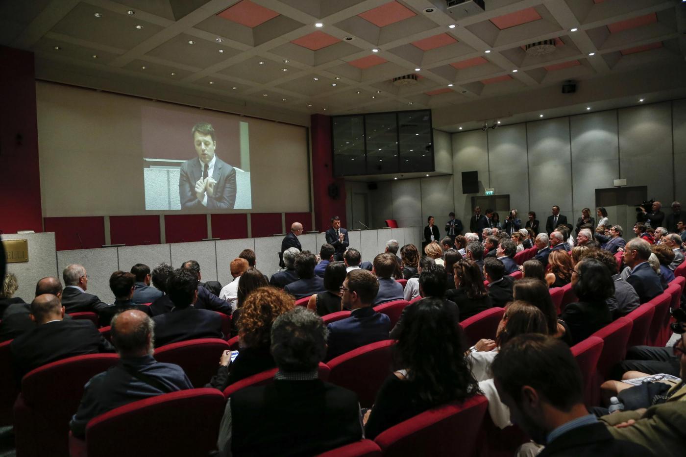 Matteo Renzi intervistato dal vice direttore de La Stampa Massimo Gramellini