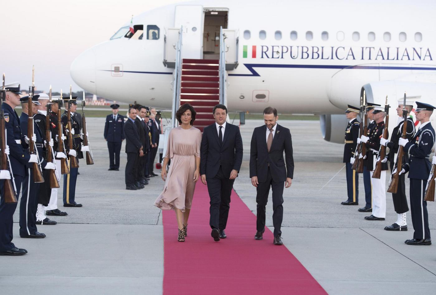 Matteo Renzi arriva a Washington