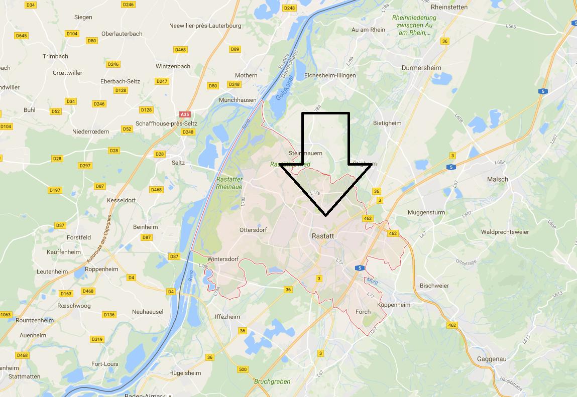 allarma bomba a Rastatt in Germania