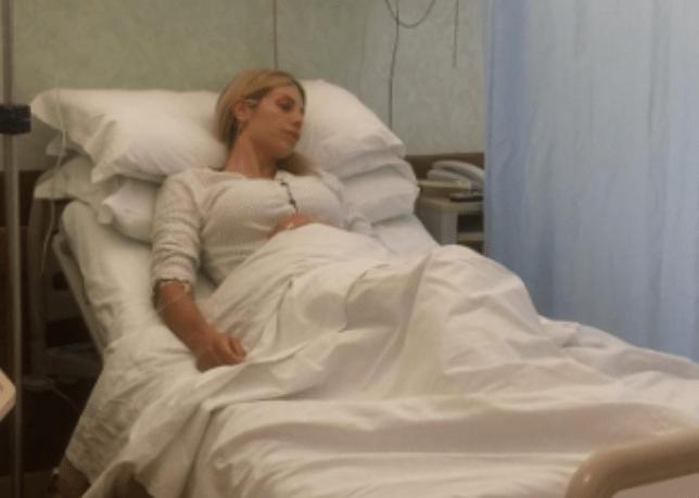 Paola Caruso in ospedale, operata per un'emorragia interna