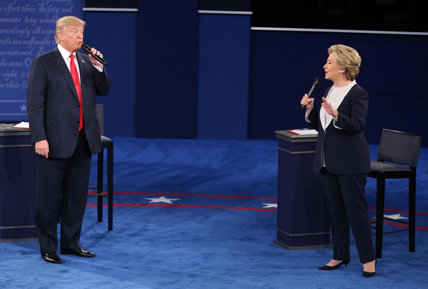 USA 2016, seconda sfida tv tra Clinton e Trump: altro punto per la democratica