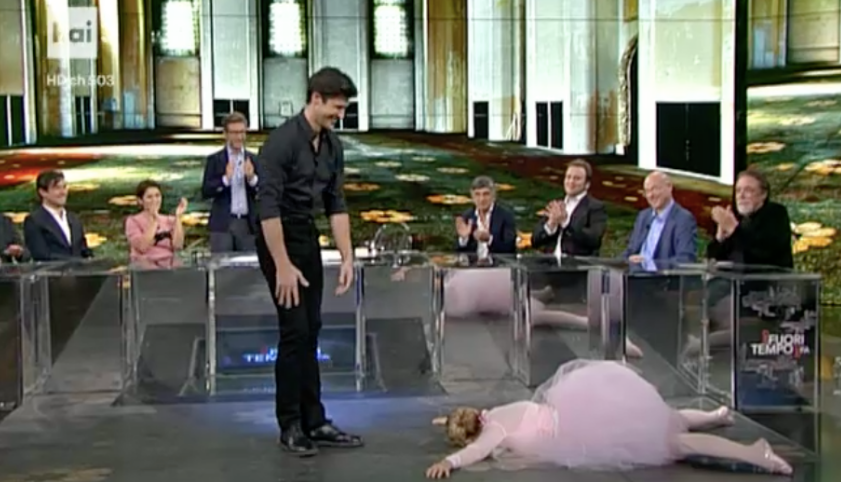 Che tempo che fa, Luciana Littizzetto e Roberto Bolle ne 'La morte del faggiano'