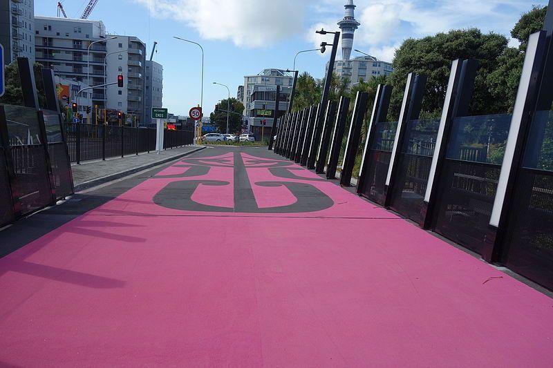 pista ciclabile rosa
