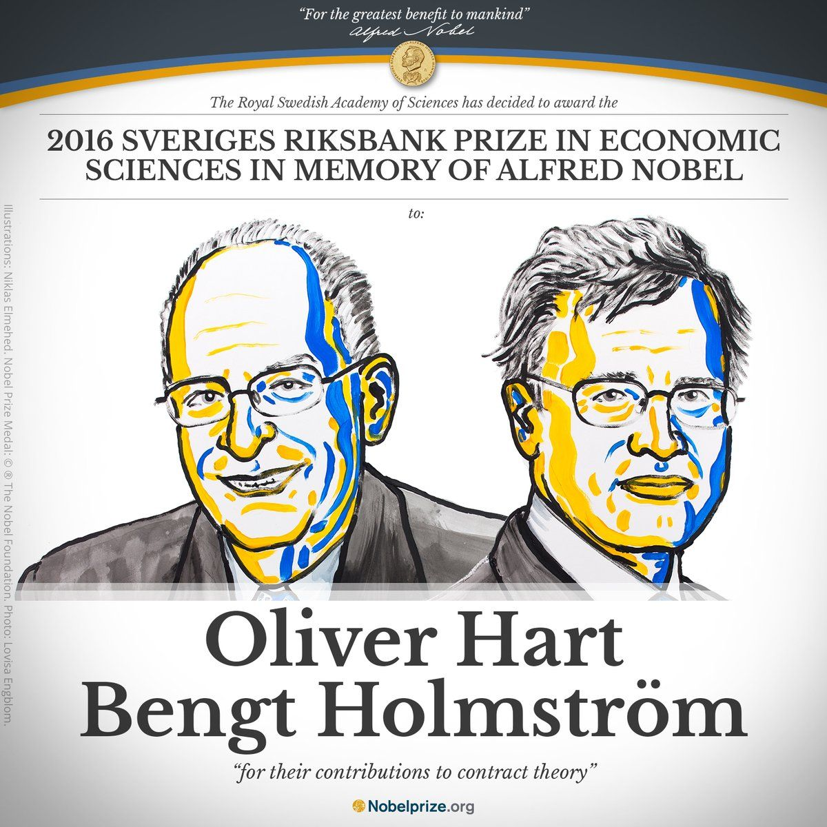 Premio Nobel Economia 2016 a Oliver Hart e Bengt Holmström