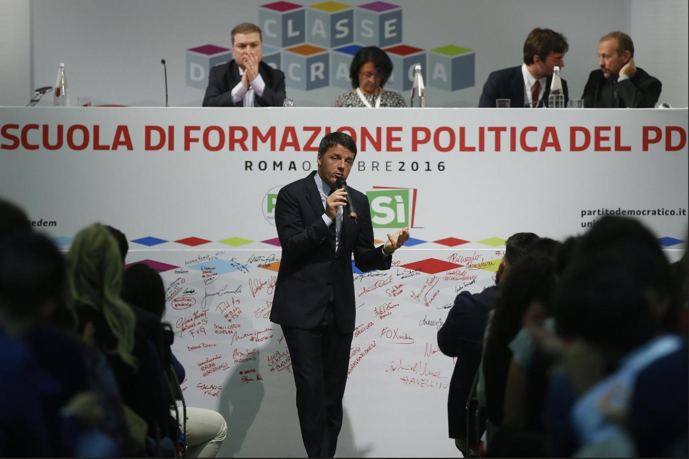 Matteo Renzi partecipa a Classe dem, la Scuola di formazione politica del Pd