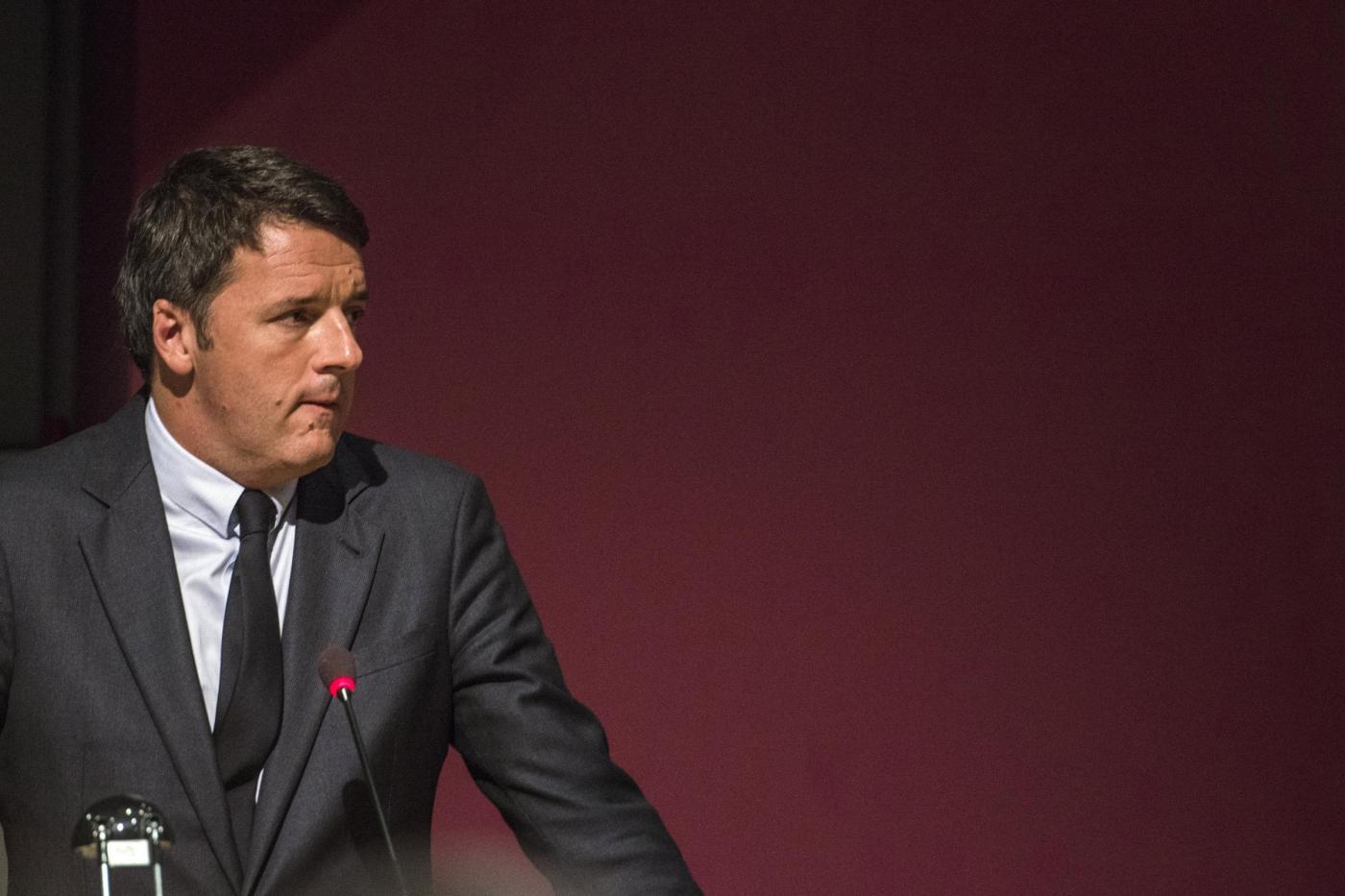 Il presidente del Consiglio Matteo Renzi all'Unione Industriale di Torino