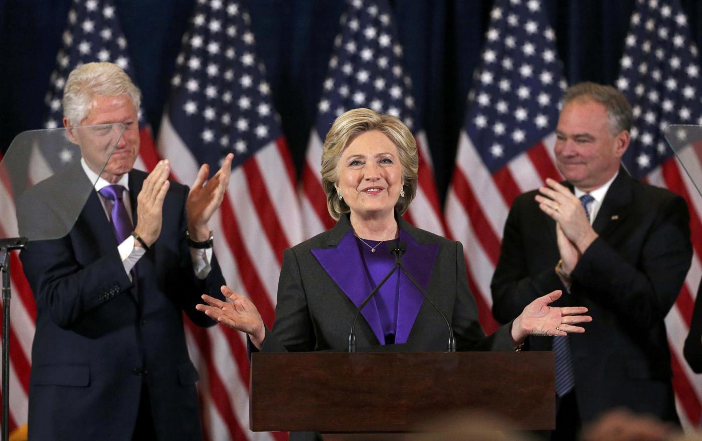 New York, il discorso di Hillary Clinton dopo la sconfitta elettorale