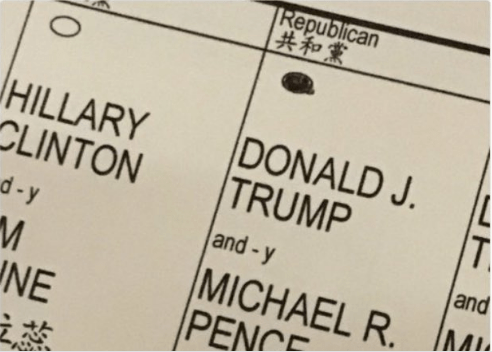 Eric Trump foto scheda elettorale su Twitter