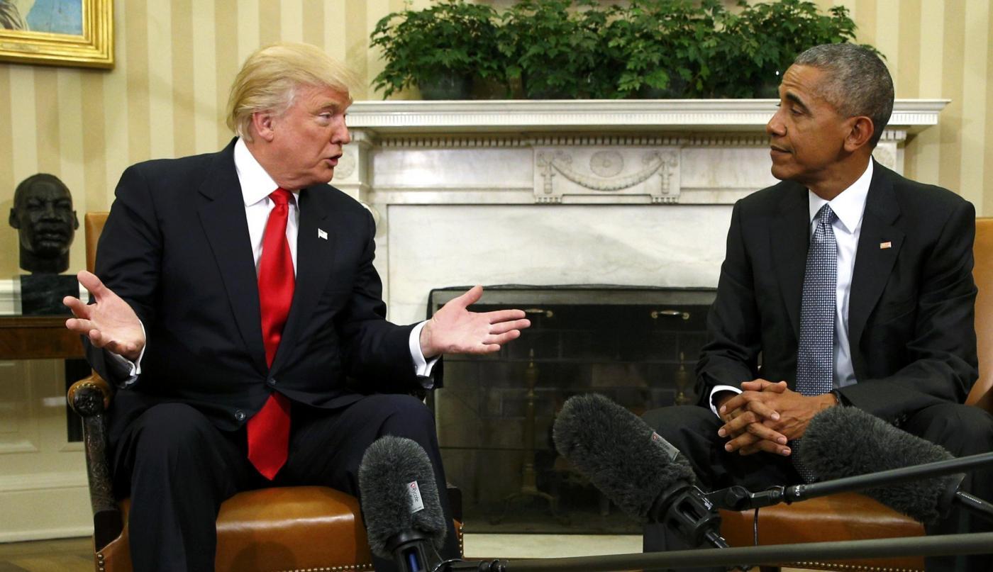 Obama riceve Trump alla Casa Bianca: 'Eccellente conversazione. Diversi, ma pronti a collaborare'