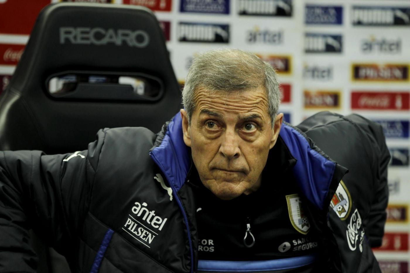 Uruguay national soccer team training session