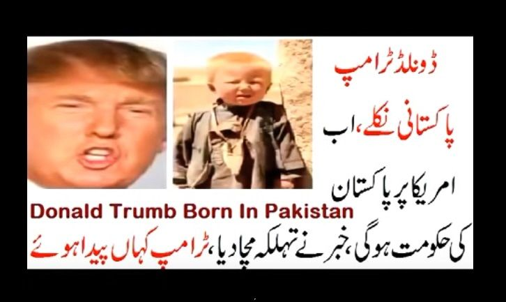 Le origini di Trump sono pakistane: la bizzarra teoria sul nuovo Presidente