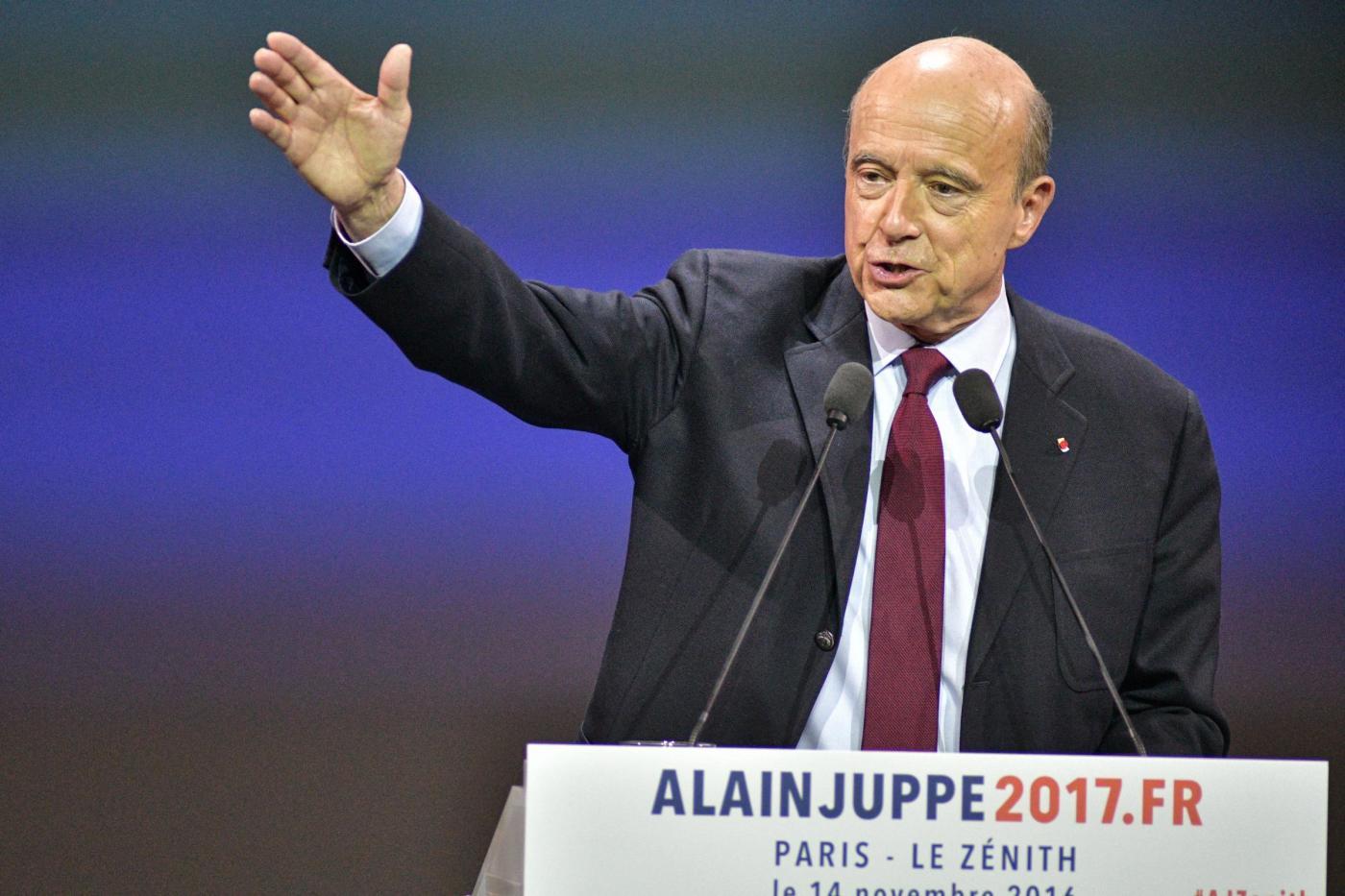 Meeting elettorale di Alain Juppe' a Parigi