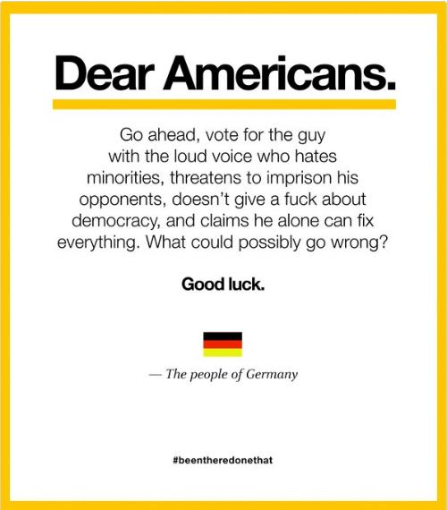 lettera Trump Hitler
