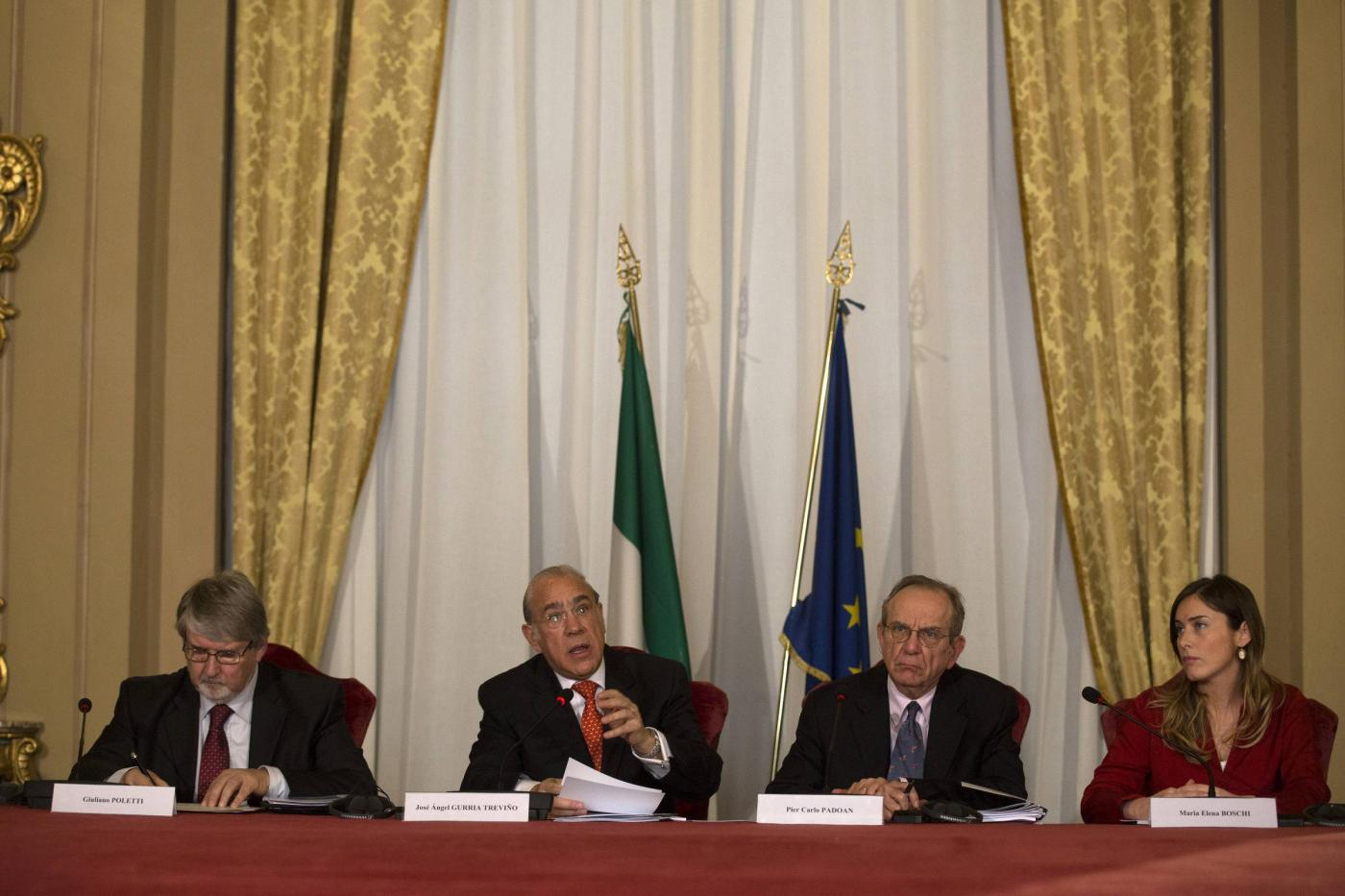 Presentazione del rapporto Ocse sull'Italia