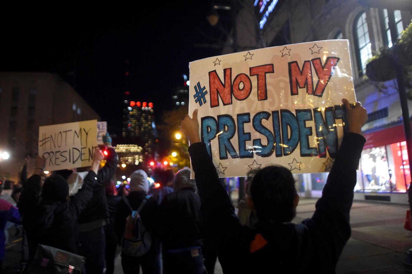 Usa, ancora proteste anti Trump